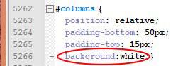 Modification des couleurs du contenu pour prestashop 1.6