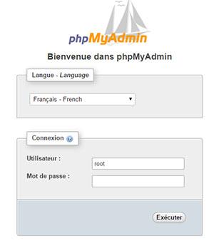 Connexion phpMyadmin gandi