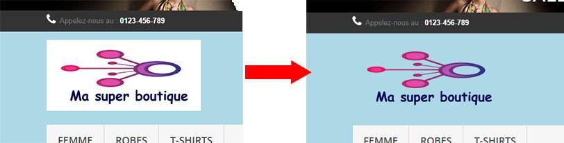 passer d'un logo sans trasparence à un logo avec transparence