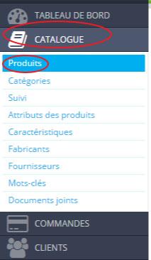accéder aux produits