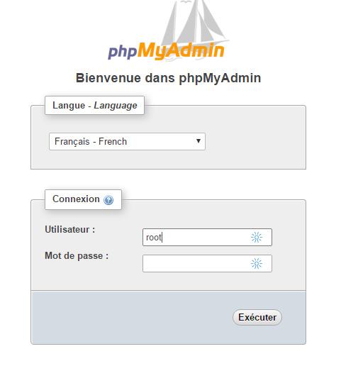 connexion php myadmin